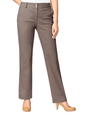 Jean femme flare 2 poches taupe