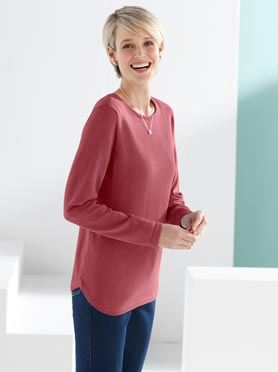 Pull rouge corail