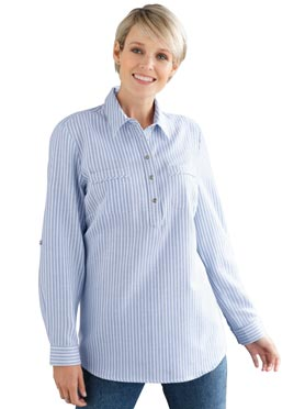 Flanell-Bluse