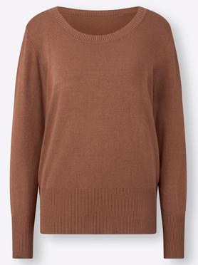 Pull col rond noisette