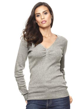 pull en tricot fin gris-chine