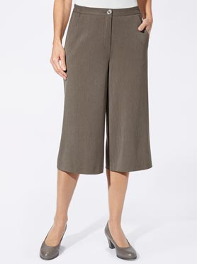 Jupe-culotte taupe chiné