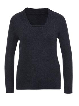 Pull cachemire anthracite chiné